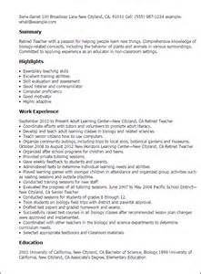 Retired Resume Exles professional retired templates to showcase your talent myperfectresume