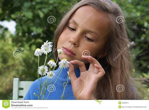 Daisy Model Preteen | preteen girl with daisy stock images image 5296814