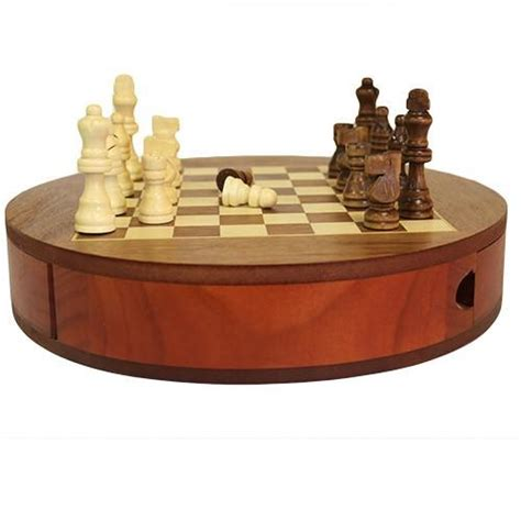 wooden chess set round wooden chess set with drawers