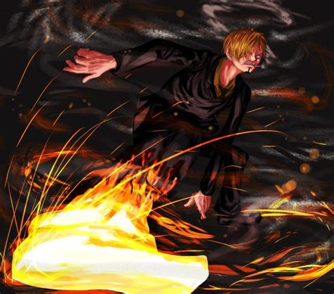 piece sanji diable jambe hd wallpaper