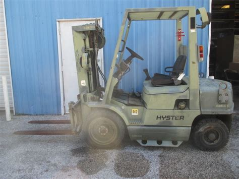hyster hxm diesel forklift lbs capacity  side shift pneumatic tires