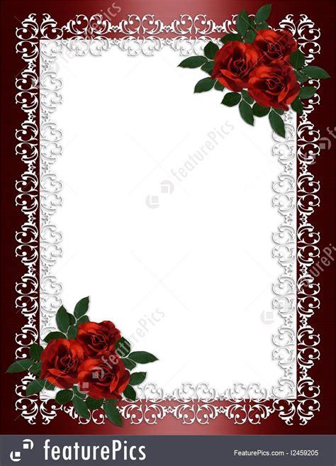 Wedding Engagement Borders by Celebration Wedding Invitation Border Roses Stock
