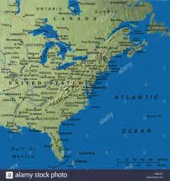 map of mid east coast usa map maps usa middle west east coast new states florida canada stock photo royalty free