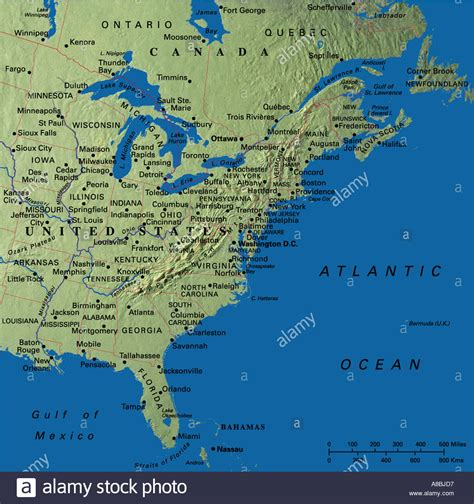 east coast in usa map map maps usa middle west east coast new states