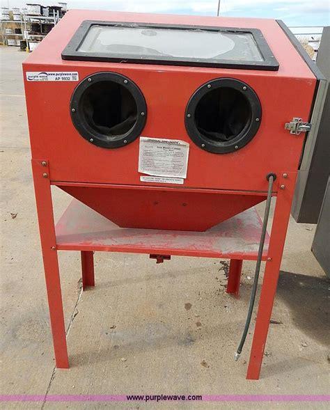 central pneumatic blast cabinet central pneumatic steel sand blaster cabinet no reserve