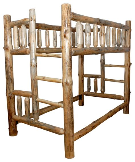 Pine Log Bunk Beds Rustic Pine Log Bunk Bed With Clear Varnish Rustic Bunk Beds By Furniture