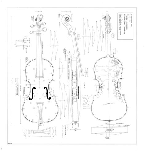 Violin Scroll Template