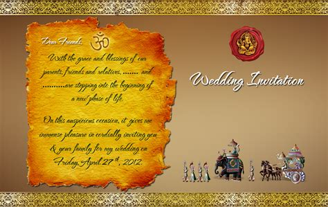 indian hindu wedding invitation cards templates indian wedding card design psd files free wedding