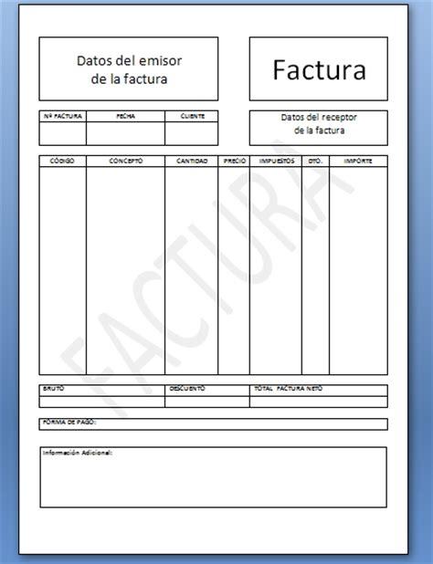 ejemplo de factura en word plantillas para facturas en word ejemplo plantilla factura