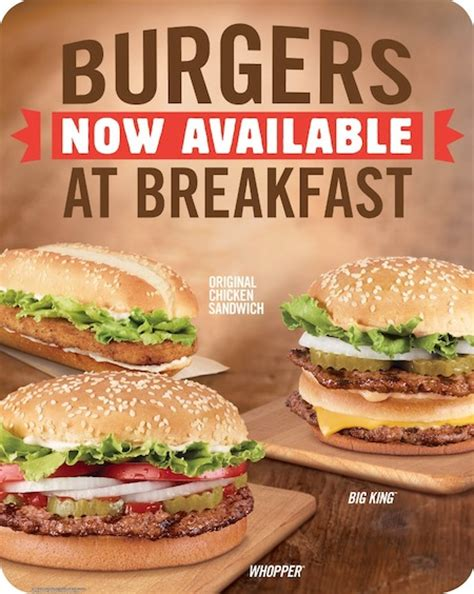 King Sandwich Open Reseller burger king adding burgers and fries to its breakfast menu consumerist