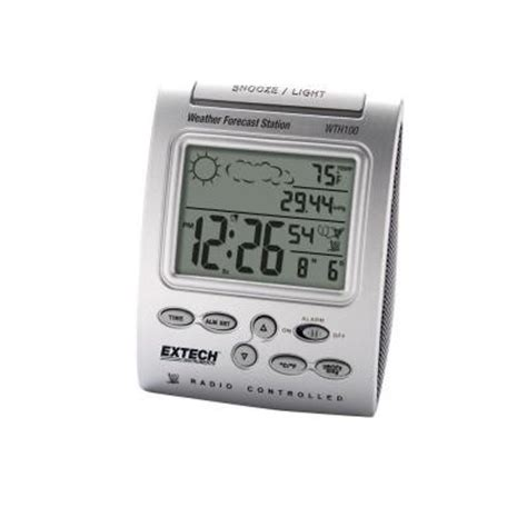 extech instruments radio controlled wireless clock with