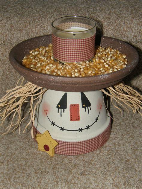 terra cotta pot crafts for scarecrow fall fella made using a 6 quot terra cotta