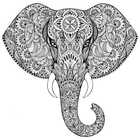 mandala coloring pages elephant coloriage mandala anti stress coloriage th 233 rapie