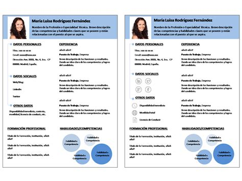 Plantillas De Curriculum Descarga Plantilla Curriculum Vitae Word Doc