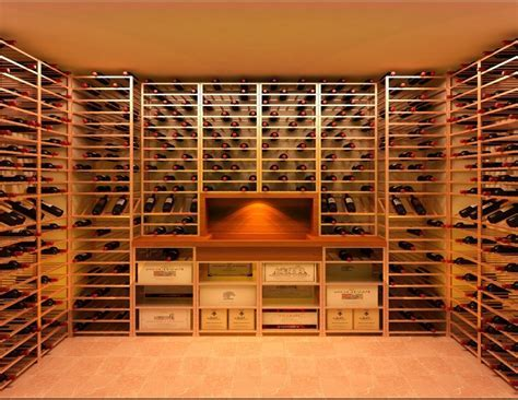 Awesome Wine Rack Decor with Heavy Timber Stemware