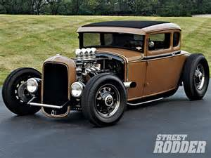1930s Ford 1930 Ford Highboy Coupe Downtown Brown Rodder