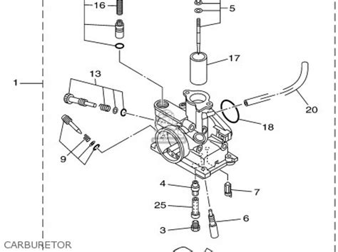 yamaha ttr 90 carburetor diagram yamaha rs 100 carburetor