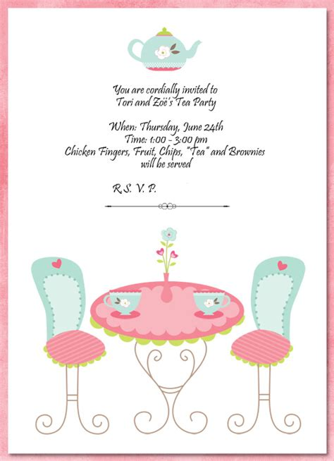 tea invitation template invitation template tea http webdesign14