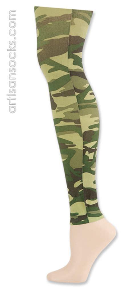 camo pattern leggings k bell camouflage footless tight green camo nylon leggings