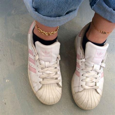 shoes adidas adidas superstars light pink pastel
