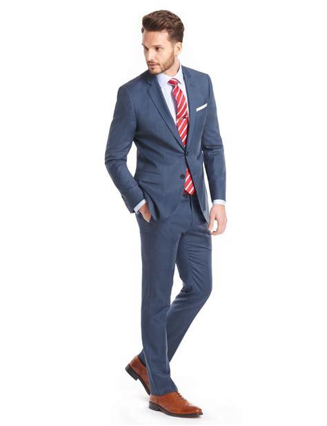 Sliming Suit 3 In 1 s blue sharkskin slim fit suit 120s wool