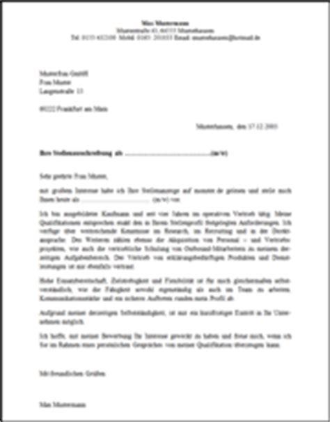 Musteranschreiben Bewerbung Unternehmensberatung Rischcon Gmbh Unternehmensberatung