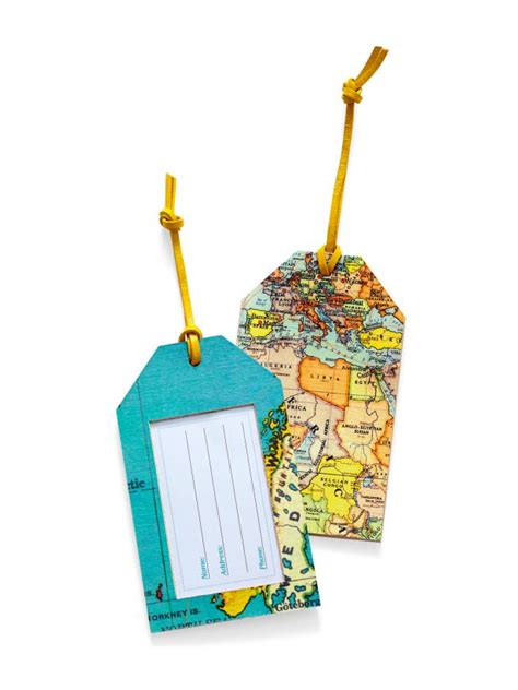 Handmade Tags For Crafts - how to make diy map luggage tags hgtv