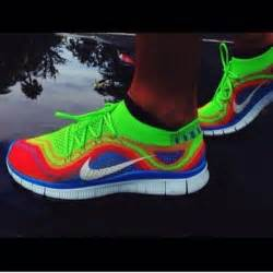 multi colored nike shoes shoes nike multicolor green blue wheretoget