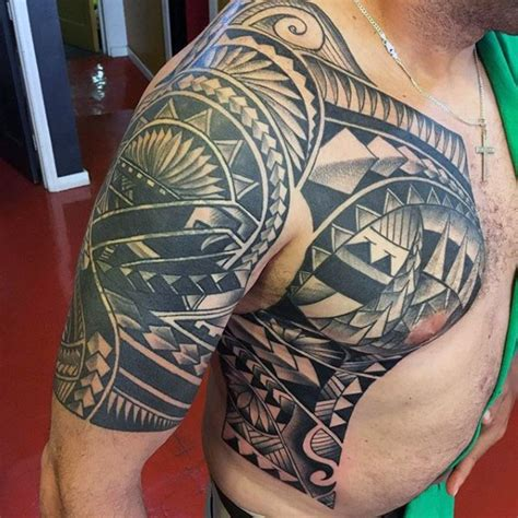 tribal quarter sleeve tattoo designs 50 polynesian half sleeve tattoo designs for men tribal