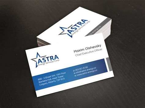 Business Card Companies business card design for a local energy company digital