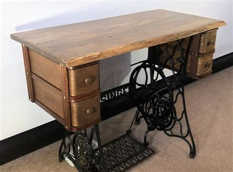 Handmade Sewing Machine - handmade singer treadle sewing machine desk by benny
