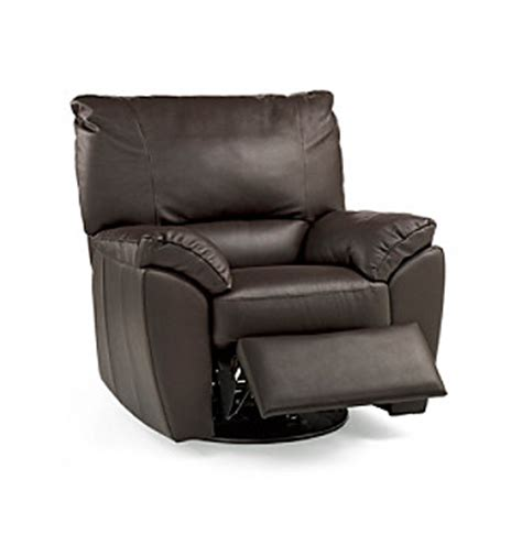Natuzzi Recliner Natuzzi Editions 174 Trento Brown Leather Swivel Recliner