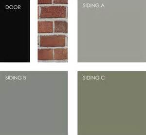 if you are working with brick siding try painting your front door black and then choosing a