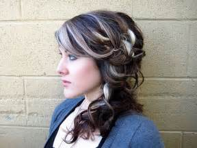 grey highlights in hair ash gray highlights dark brown hairs