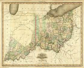 Indian Lake Ohio Map by Ohio 1819 Oh Map Chippewa Indian Lake Caldwell Sylvan Ebay