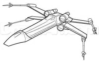 x wing coloring pages how to draw an x wing x wing starfighter step by step
