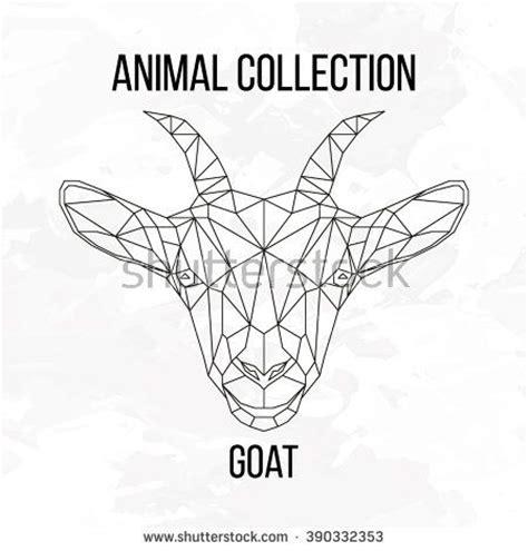 geometric goat tattoo 67 best geometric polygonal animals images on pinterest