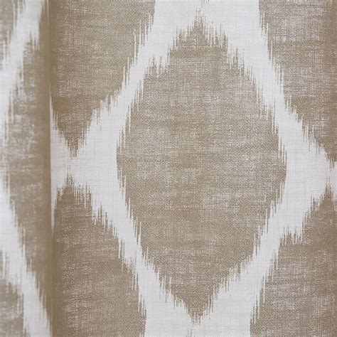 Ikat Ogee Curtains Ikat Ogee Linen Curtain Ivory Straw West Elm