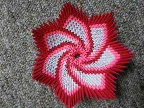 How To Make Origami 3d - origami spiral flower bowl https www etsy listing