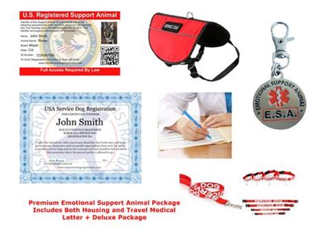 Emotional Support Animal Travel Letter Service Vest Usa Service Animal Registration
