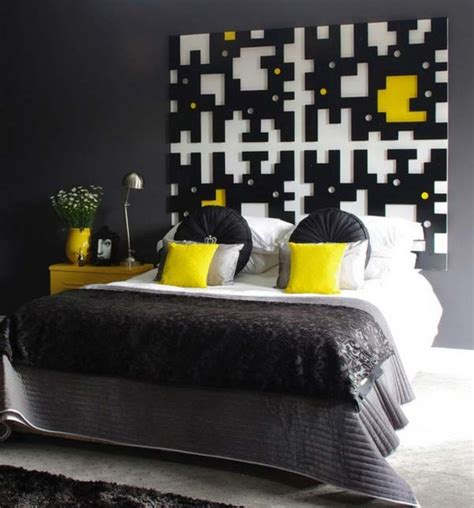 black white and yellow bedroom black and yellow bedroom modern bedroom other metro by decorating and design