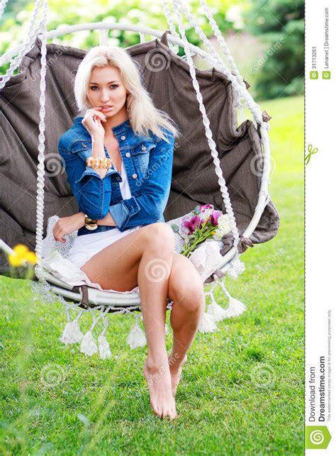 swinging naturals woman swinging stock image image 31713261