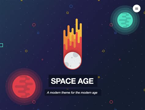 new rapidweaver themes space age new rapidweaver theme