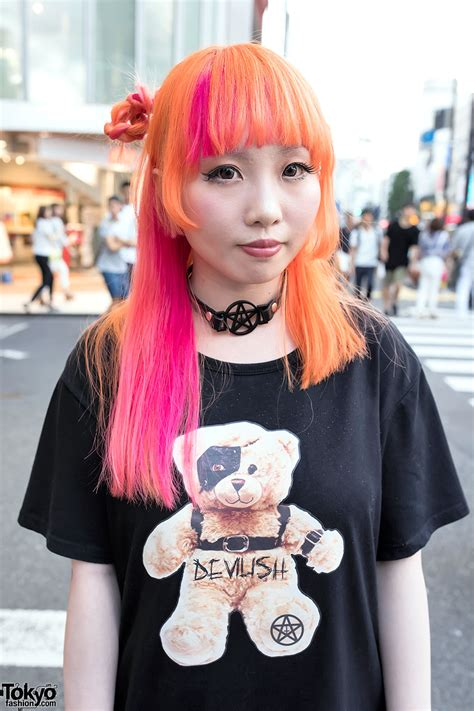 Fashion Backpack 3097 devilish designers in harajuku w colorful hair spikes