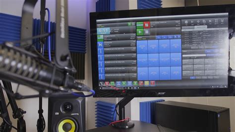 radio station equipment for a professional studio setup