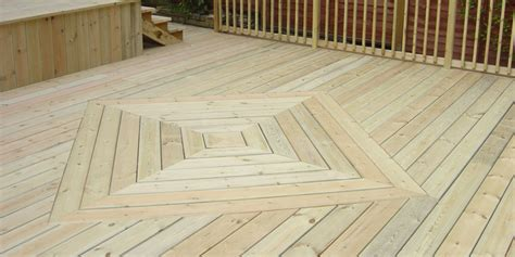 striking square diamond pattern decking boards