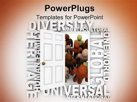 diversity powerpoint templates free powerpoint template door opening for the belong to
