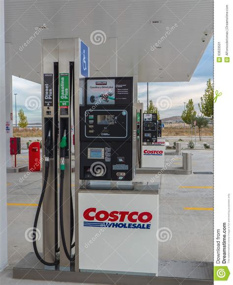Costco Gas Gift Card - costco gas station getafe editorial photo image 63633501