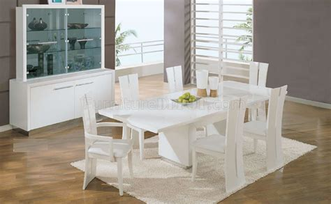 convertibles esszimmer sets white high gloss finish contemporary formal dining room