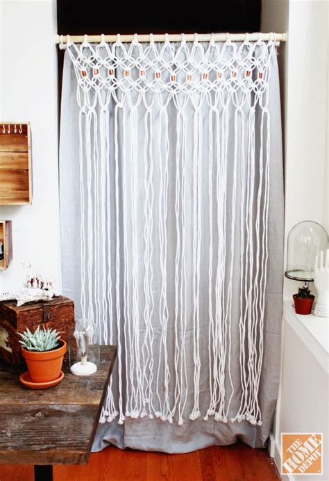 how to make macrame curtains how to macrame a room divider the home depot macrame